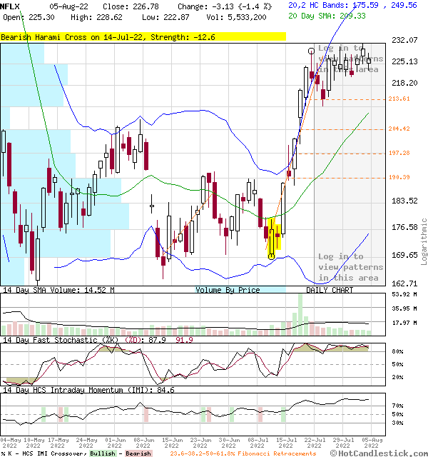 NFLX - Large Daily Candlestick Stock Chart