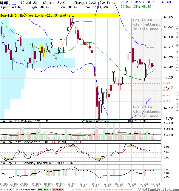 SLQD - Large Daily Candlestick Stock Chart